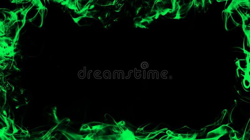 Grens van rook Groen nevelig textuureffect voor film, tekst of ruimte Het element van het ontwerp royalty-vrije illustratie