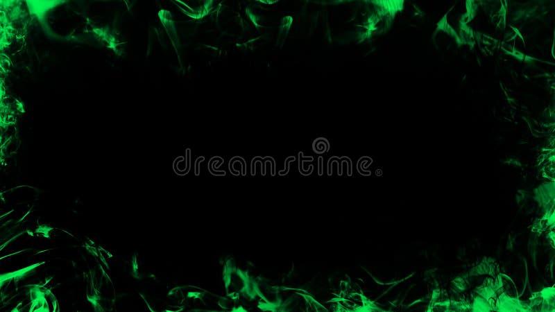 Grens van rook Groen nevelig textuureffect voor film, tekst of ruimte Het element van het ontwerp vector illustratie