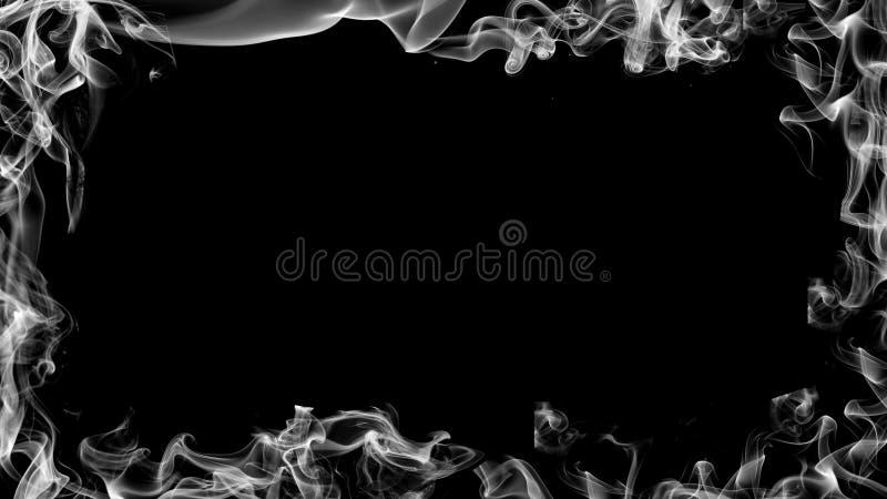 Grens van rook Nevelig effect voor film, banner, vlieger, dekking Het element van het ontwerp stock illustratie