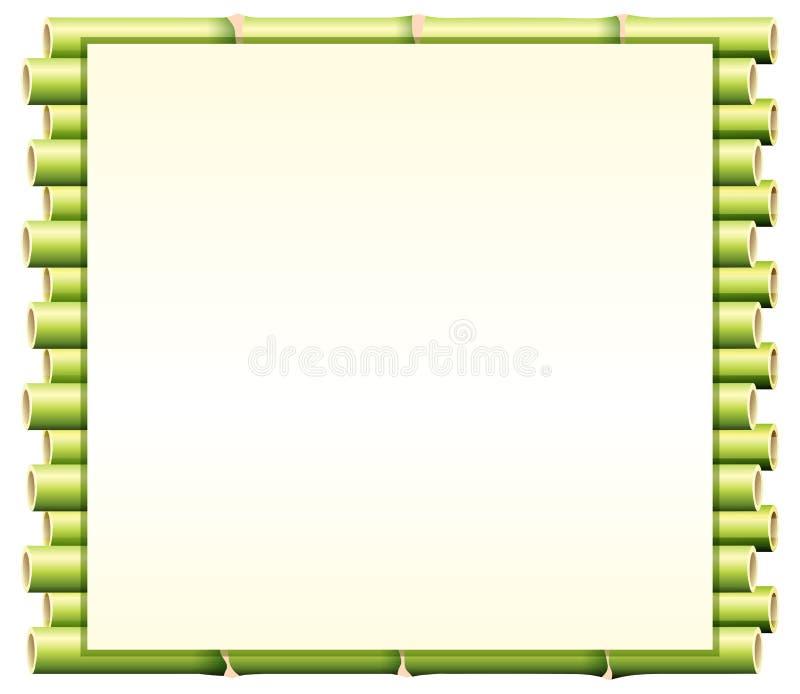 Grensmalplaatje met groen bamboe royalty-vrije illustratie