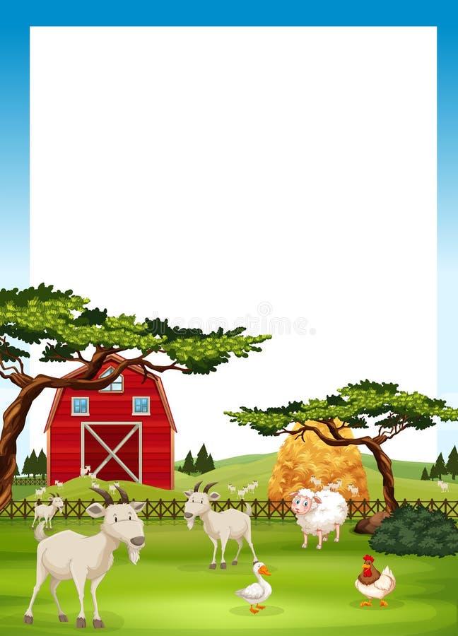 Grenzdesign mit Vieh vektor abbildung