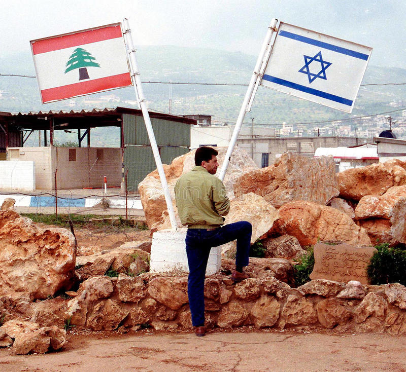 GRENZE ISRAELS DER LIBANON stockfoto