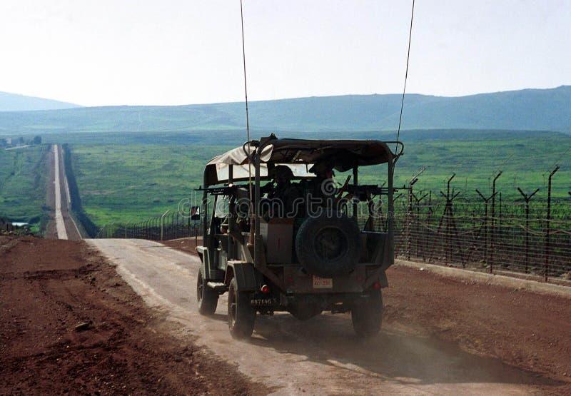 GRENZE ISRAELS DER LIBANON stockbilder