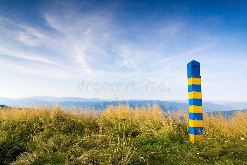Grenze Polens Ukraine stockfotografie