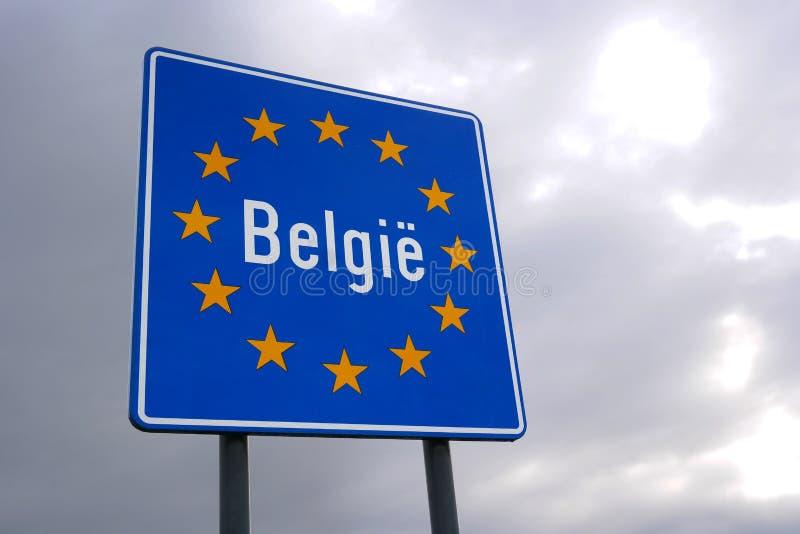 Grenze von Belgien lizenzfreie stockbilder