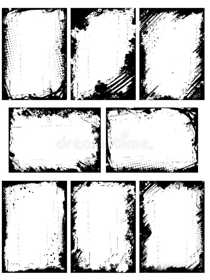 Grenzen of frames royalty-vrije illustratie