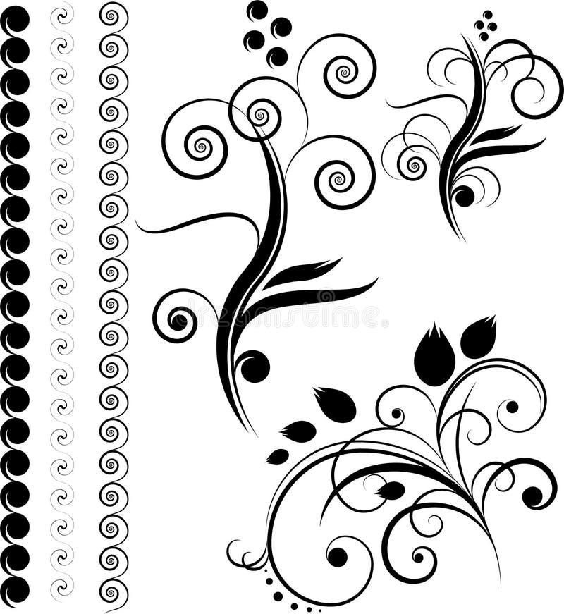 Grenzen, ontwerpelementen vector illustratie
