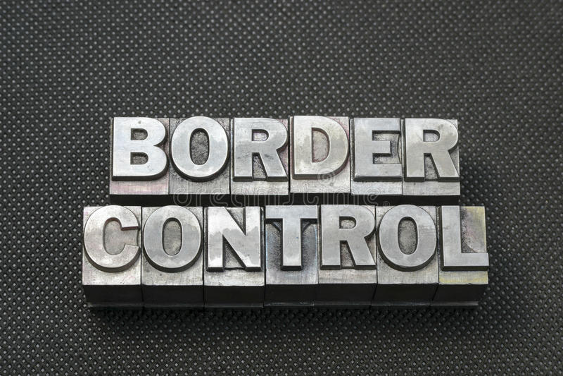 Grenzkontrolleschwerpunktshandbuch lizenzfreie stockbilder