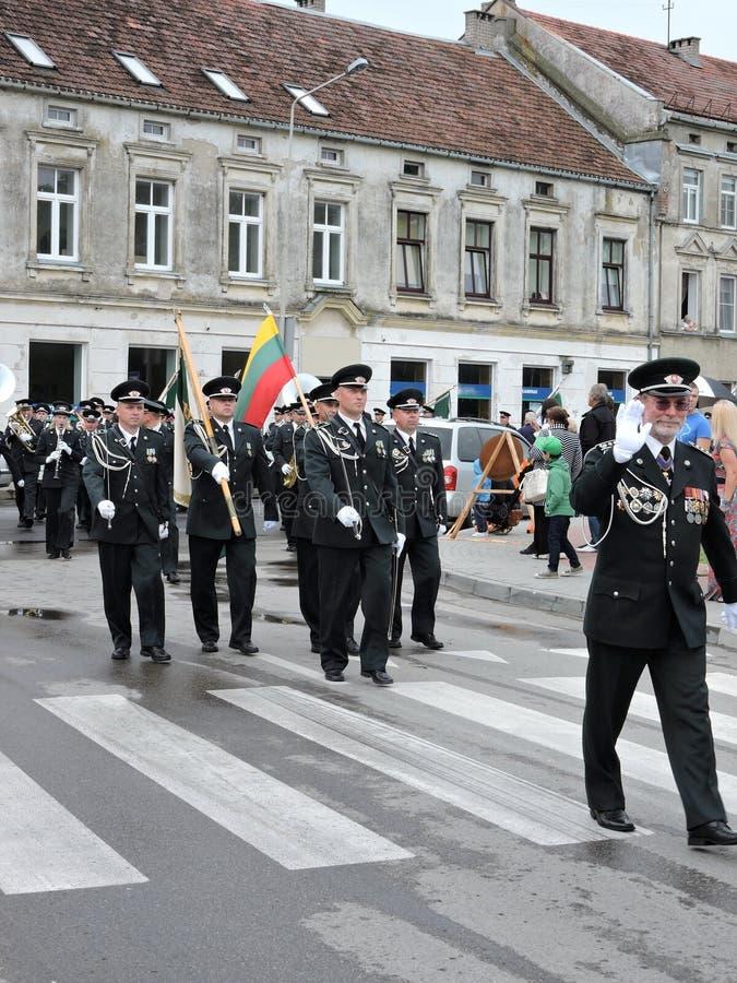 Grenzlinie feiern Tag, Litauen stockfotos