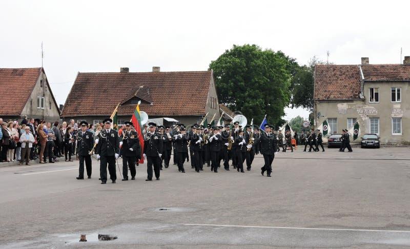 Grenzlinie feiern Tag, Litauen lizenzfreie stockfotos