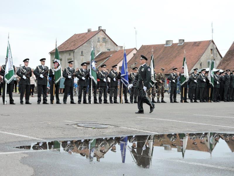 Grenzlinie feiern Tag, Litauen lizenzfreies stockfoto