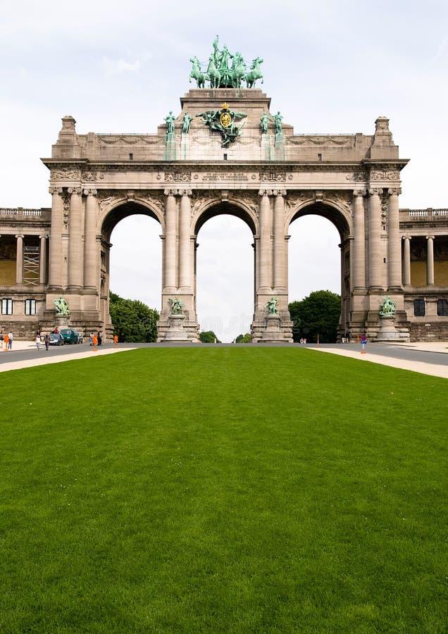 Grenzstein von Brüssel lizenzfreies stockbild