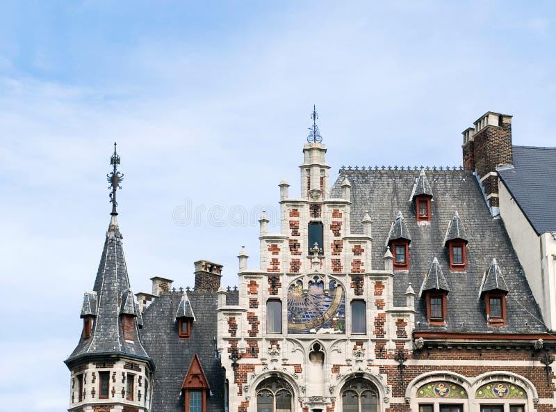 Grenzstein von Brüssel lizenzfreie stockfotos