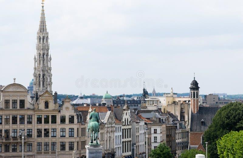 Grenzstein von Brüssel stockfotos