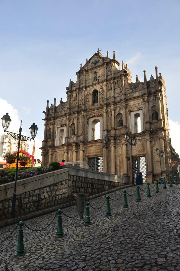 Grenzstein von Macau stockfoto