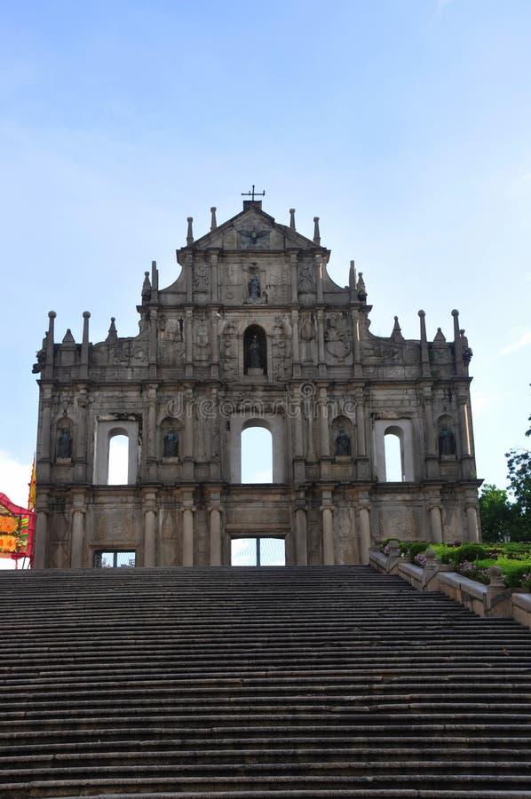 Grenzstein von Macau stockfotografie