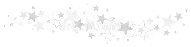 Grenzunterschiedliches Silber und -Gray Stars stock abbildung