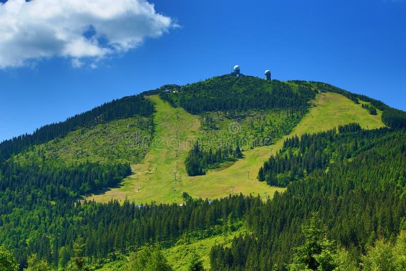 Gresser Arber é uma montanha de Baviera, Alemanha fotografia de stock royalty free