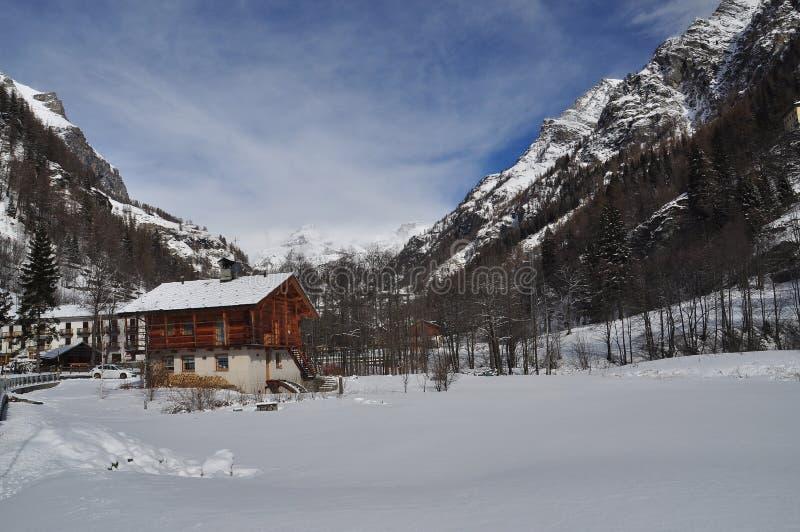Gressoney and Monte Rosa landscape. Italian Alps