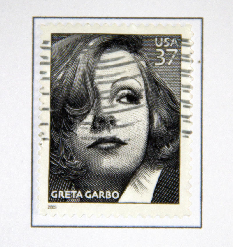 Greta Garbo royalty-vrije stock afbeelding