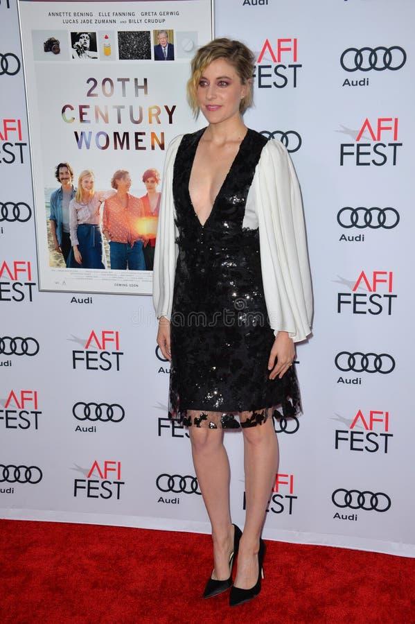 Greta Gerwig. LOS ANGELES, CA. November 16, 2016: Actress Greta Gerwig at the gala screening for 20th Century Women at the TCL Chinese Theatre royalty free stock image