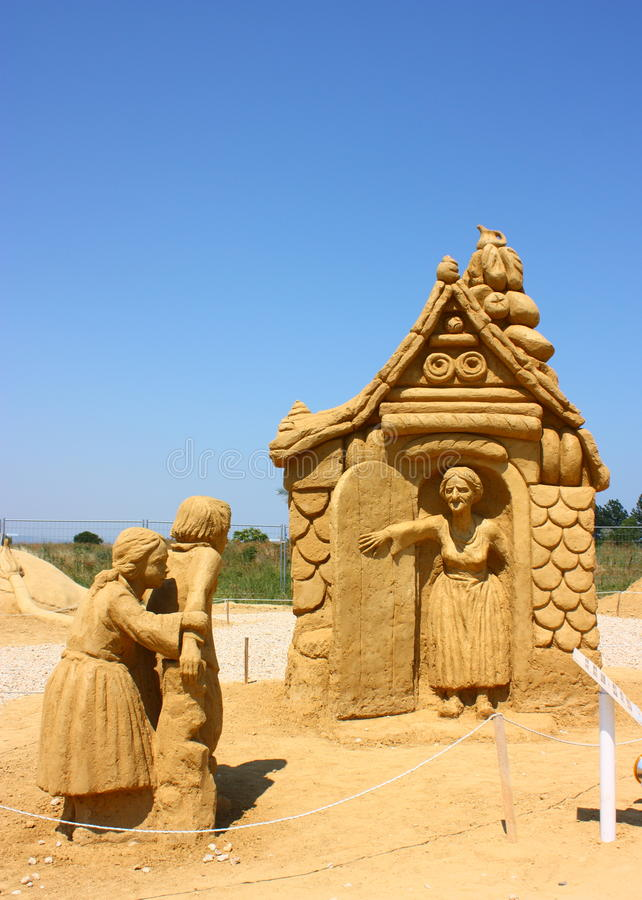 gretel hansel filmu piaska rzeźba zdjęcia royalty free