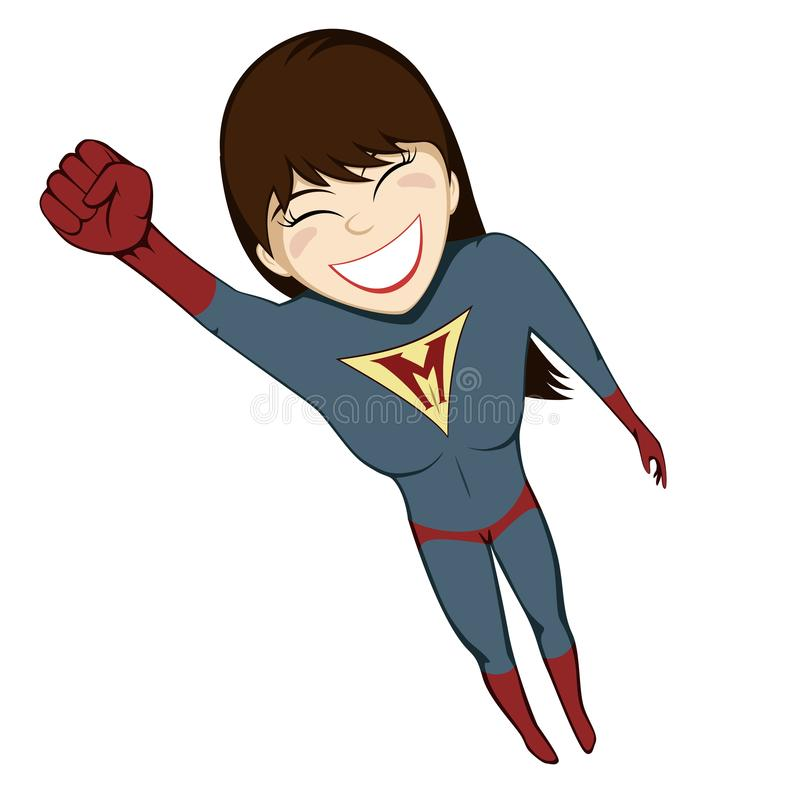 Greves da mamã do super-herói outra vez ilustração stock