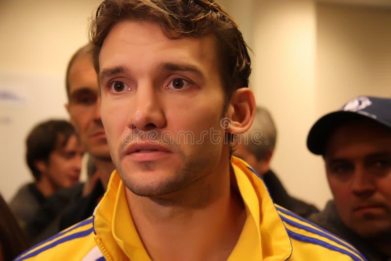 Grevista Andriy Shevchenko de Ucrânia foto de stock royalty free