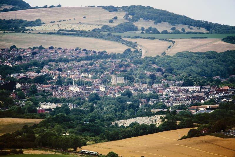 Grevskapshuvudstaden av Lewes i östliga Sussex, England arkivfoto