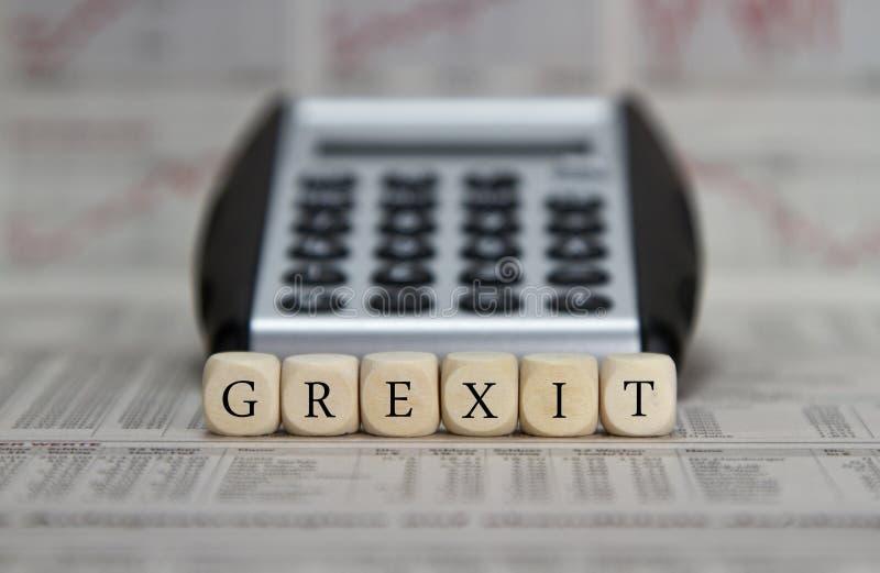 Grexit stock foto's