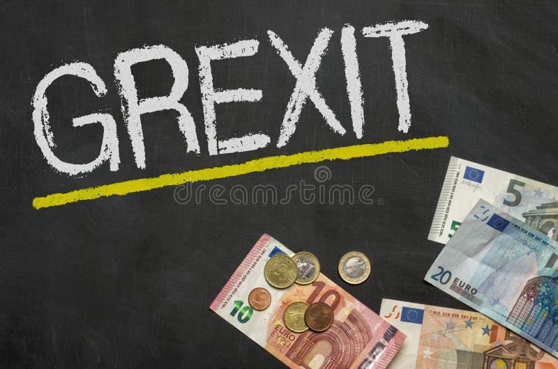 Grexit royalty-vrije stock foto