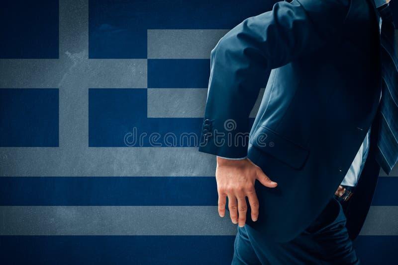 Grexit pojęcie obraz royalty free