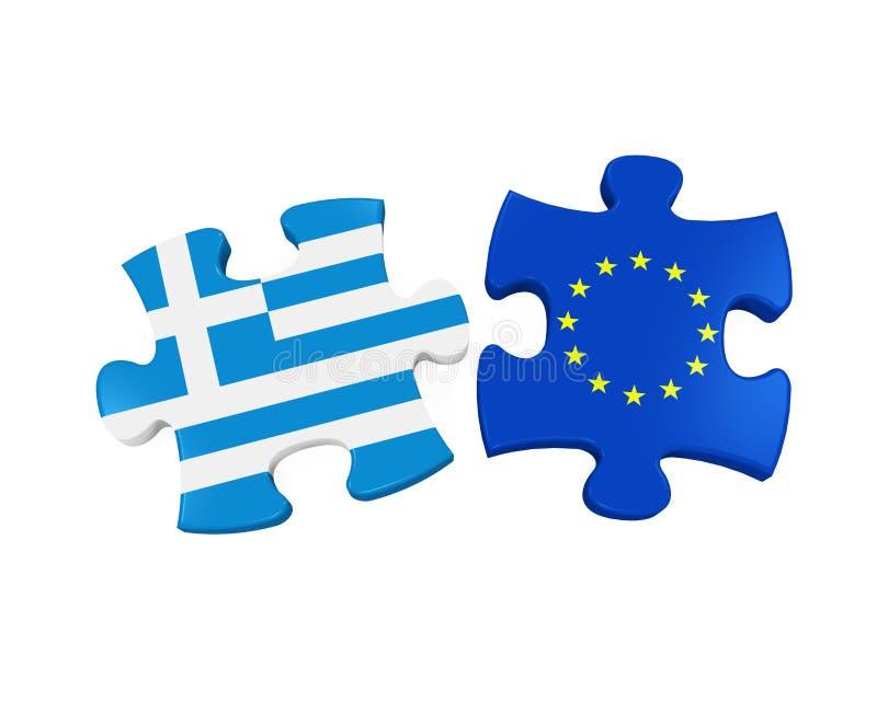 Grexit-Puzzlespiel-Stücke vektor abbildung