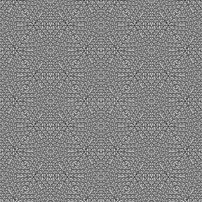 Grey 3d Maze Pattern Royalty Free Stock Photos
