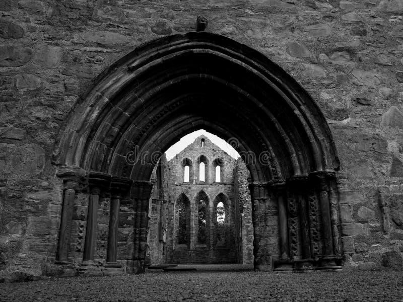 Grey Abbey Ruins Entrance lizenzfreies stockbild