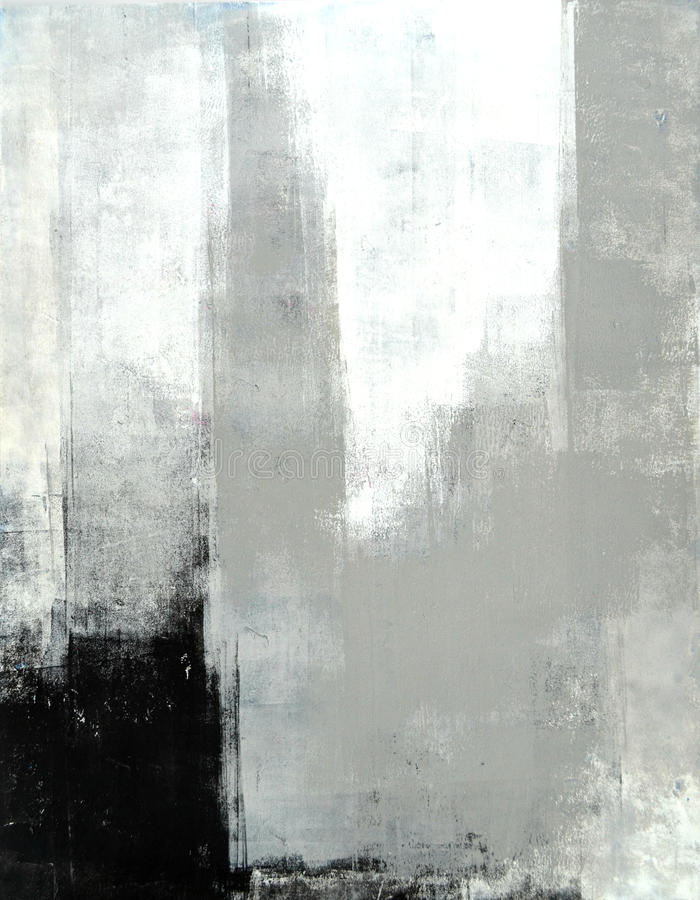 Grey Abstract Art Painting fotos de stock royalty free
