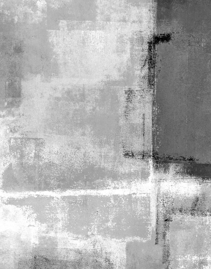Grey Abstract Art Painting image stock