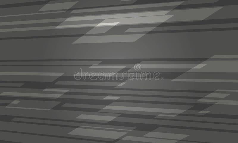 Grey Abstract Background escuro futurista ilustração do vetor