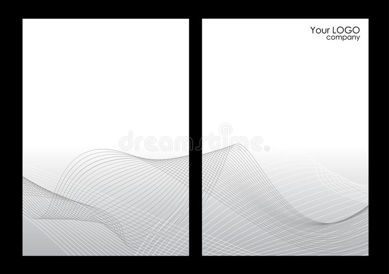 Grey abstract background, front and back royalty free illustration