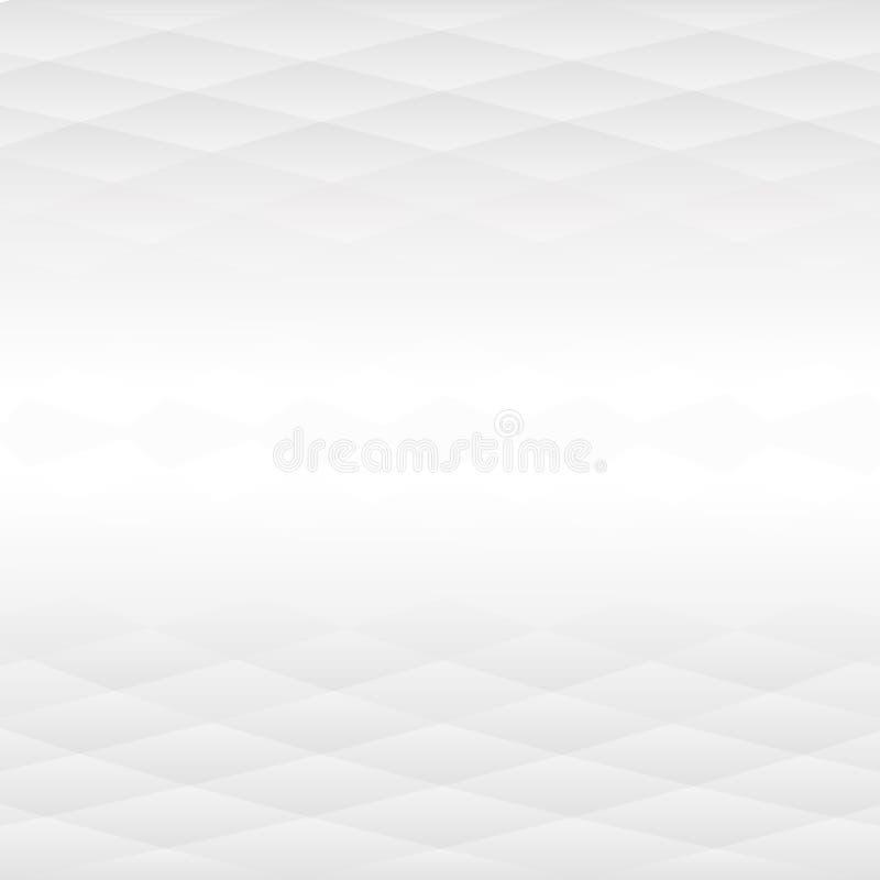 Grey Abstract Background med den avlägsna mellersta delen stock illustrationer