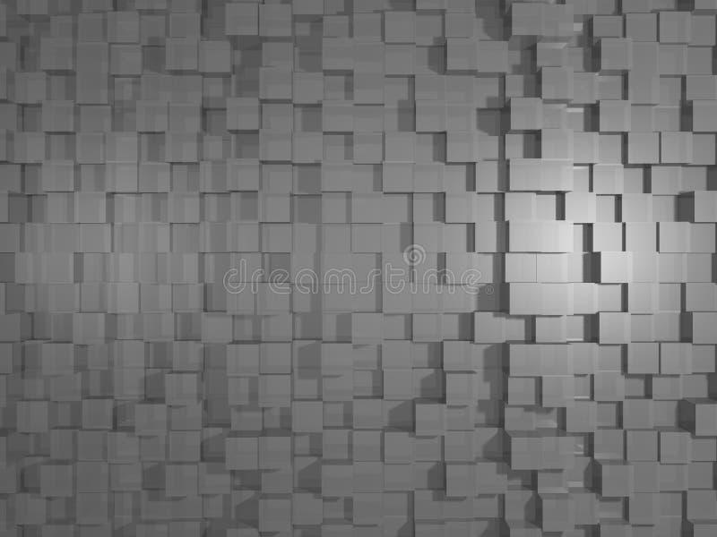 Grey Abstract Cubic 3D textur/bakgrund stock illustrationer