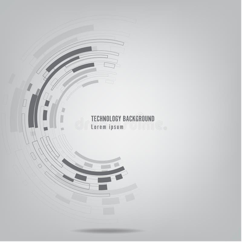 Grey Abstract-technologie backgroundÂ, Abstracte technologie shap royalty-vrije illustratie
