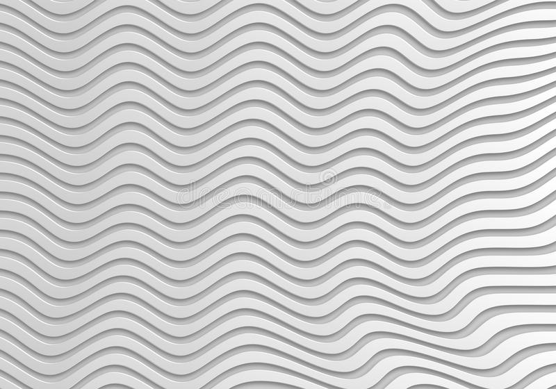 Grey abstract wave 3d Seamless background royalty free illustration