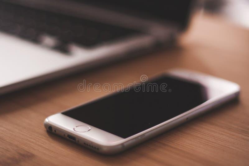 Grey Apple Iphone stock photography