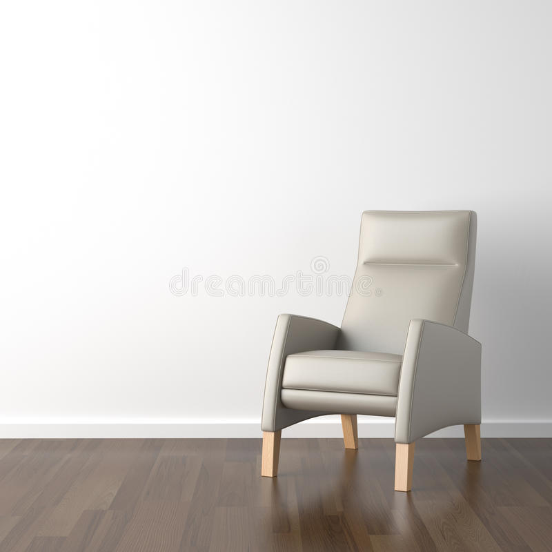 Download Grey armchair on white stock photo. Image of floor, armchair - 10819594