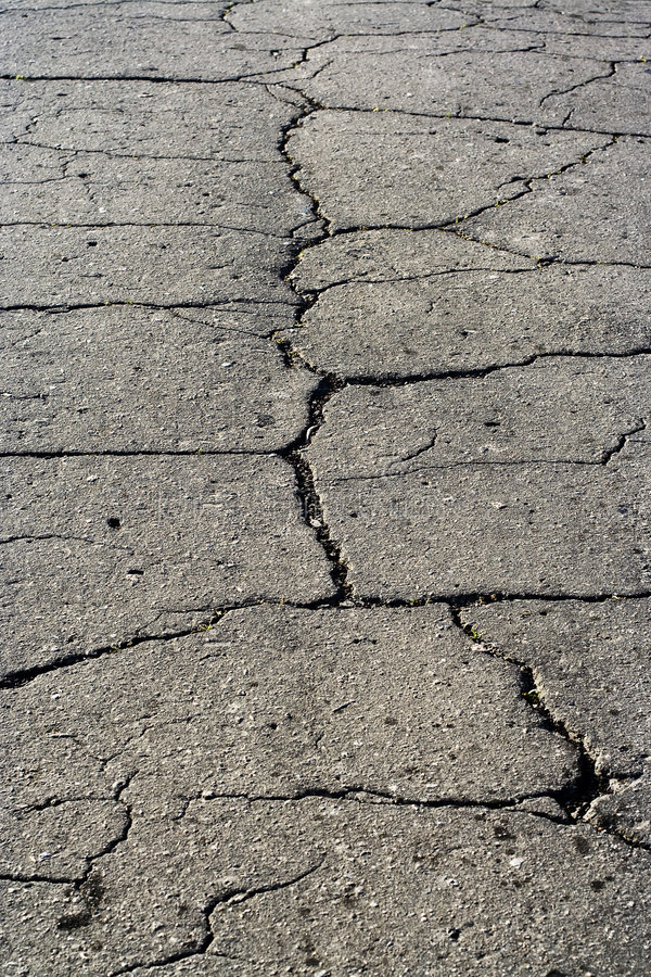 Grey Asphalt Road Surface Texture With Fissure Stock Images