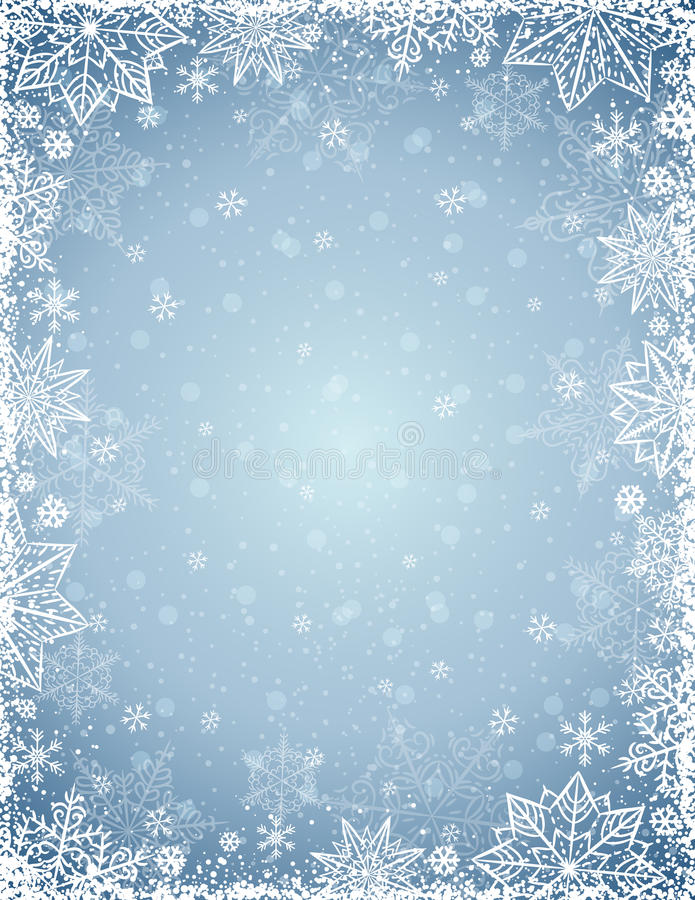 Free Grey Background With Frame Of Snowflakes And Stars, Vector Stock Photos - 78983753