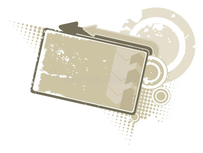 Download Grey banner stock vector. Image of grunge, halftone, border - 13461016