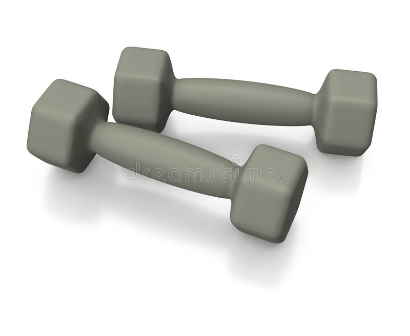Download Grey Barbells For Training Lifestyle Stock Illustration - Illustration of gray, lifestyle: 17908942