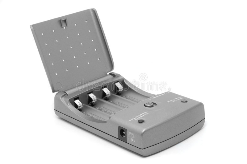 Grey Battery Charger Stock Photos